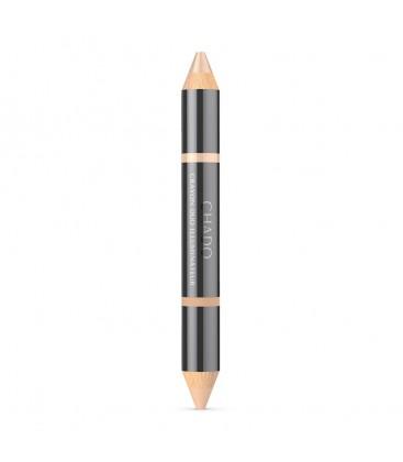 Двойной подсвечивающий карандаш для бровей и век - naturel 384